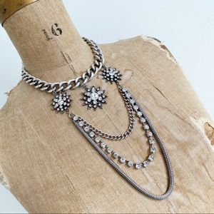 COCOA JEWELRY Rigel crystal snowflake necklace.